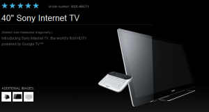 sony tv google